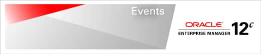 Oracle Enterprise Manager Events
