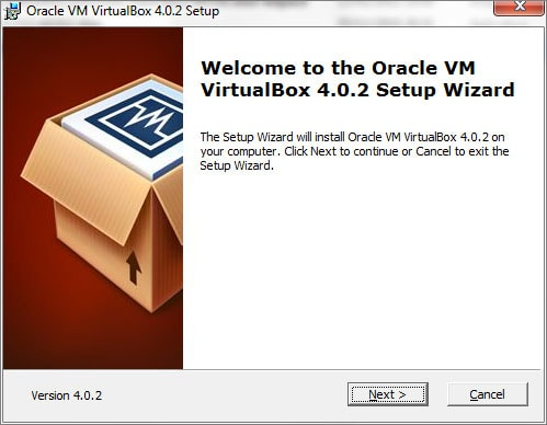 Iniciando a instalação do Oracle Virtualbox 4.0.2 para Microsoft Windows