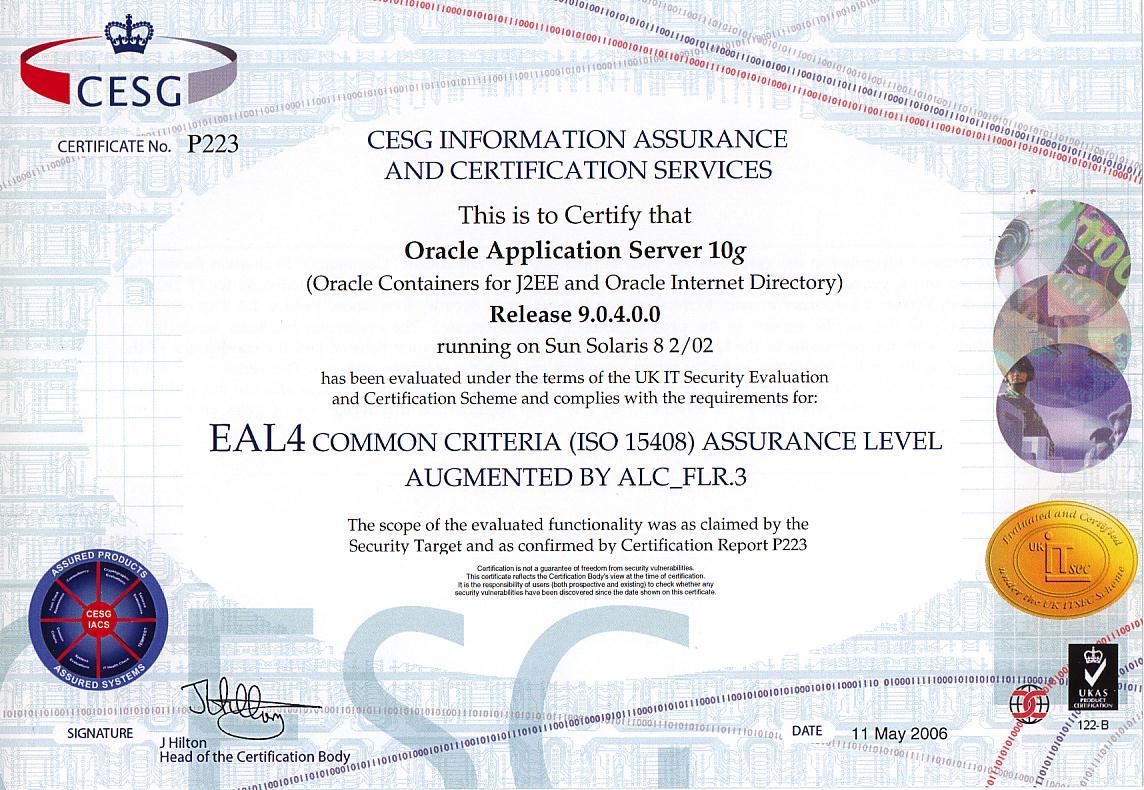 Oracle Common Criteria Evaluatedaps
