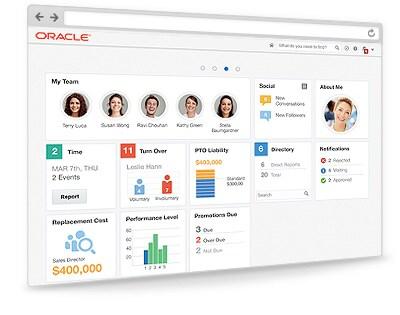 Oracle Alta UI dashboard