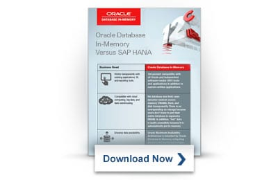 Oracle Database In-Memory Comparison Chart