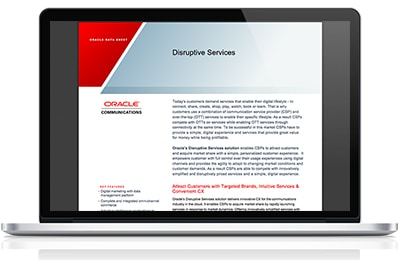 Communications Industry Solution—Disruptive Services