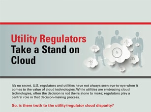 Utility regulators are taking notice of the cloud's growing push into the business.