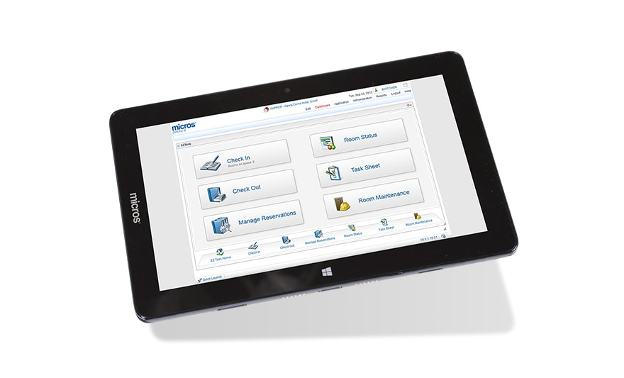 Oracle MICROS Tablet E-Series Screen Shot 2