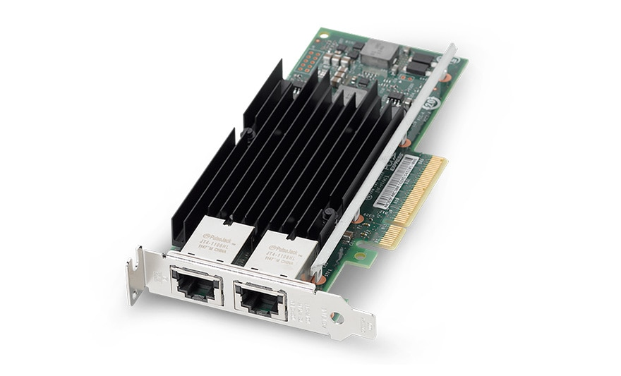 Sun Dual Port 10GBase-T Ethernet Networking Cards, front top angle view