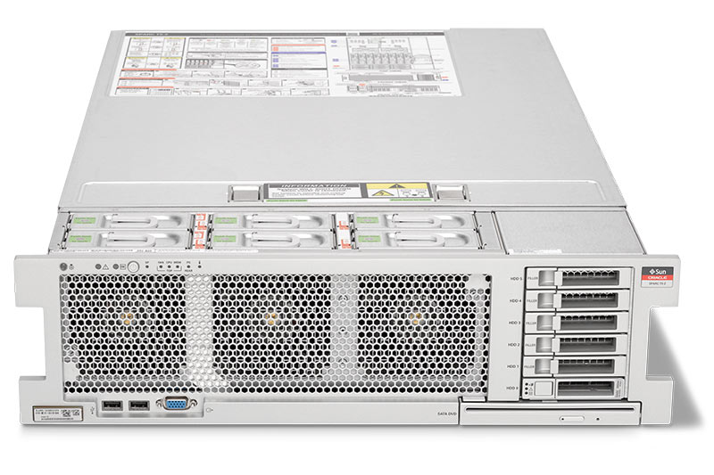 SPARC T5-2 Server top front view