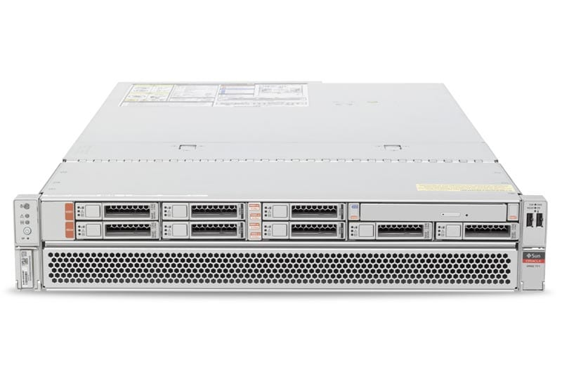 SPARC T7-1 Server top front view