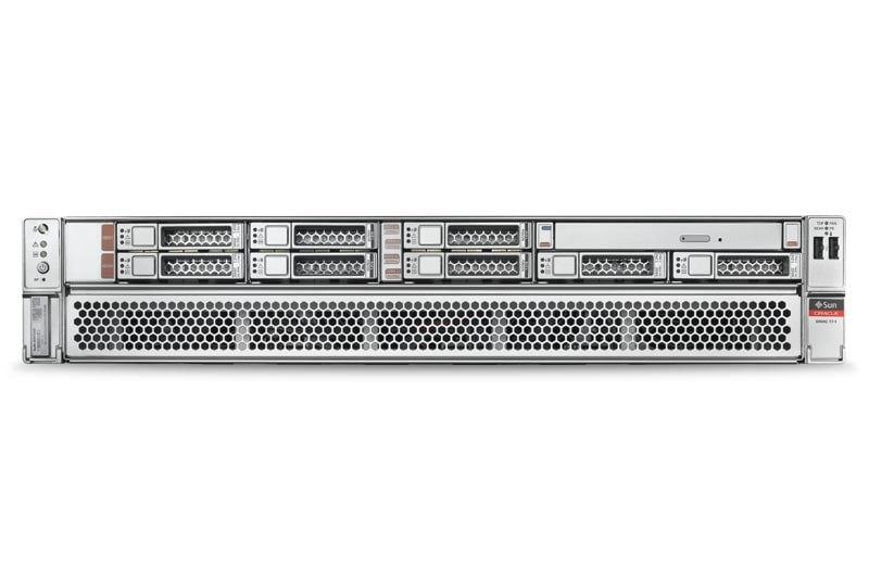 SPARC T7-1 Server top right angle view