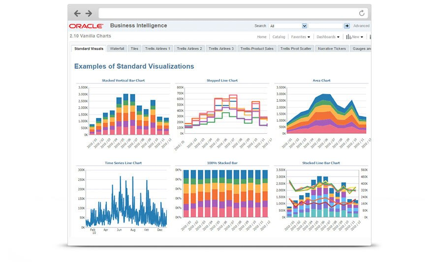 Business Intelligence (BI) 12C Standard Visuals Screenshot