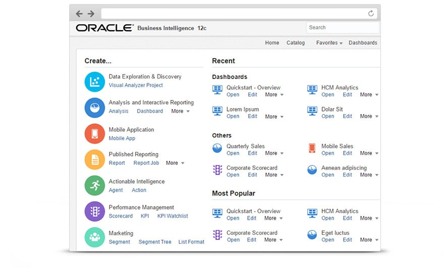 Business Intelligence (BI) 12C Overview Screenshot
