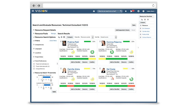 Project Resource Management Cloud screen shot 1