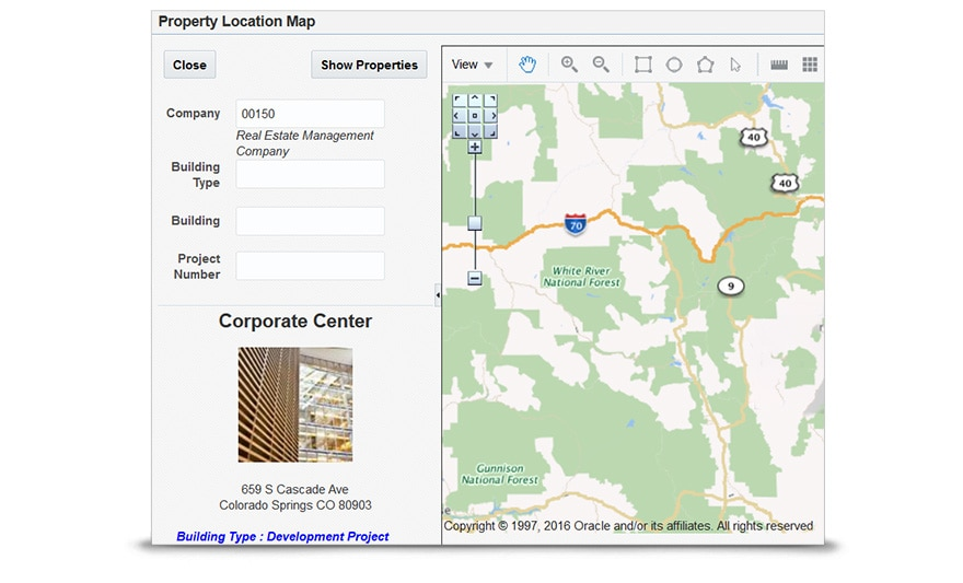 Property Location Map - Locate and manage properties from a map