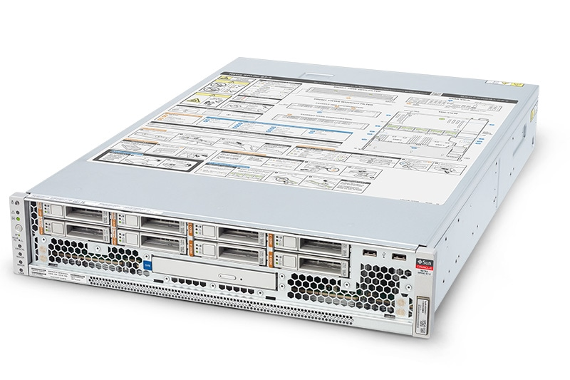 Oracle Netra SPARC 7-2, left angle view