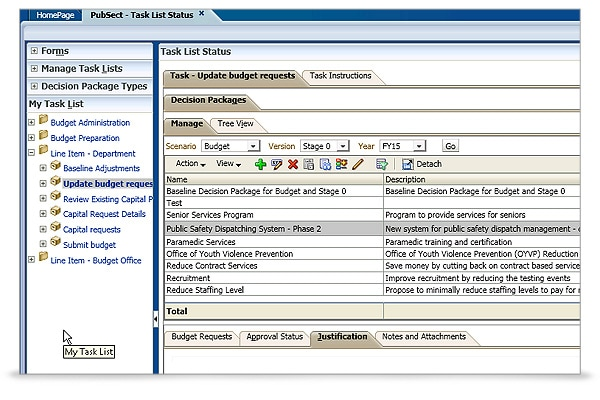 Hyperion Public Sector Planning and Budgeting screen shot 4