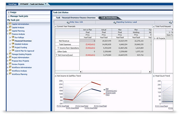 Hyperion Project Financial Planning screen shot 2