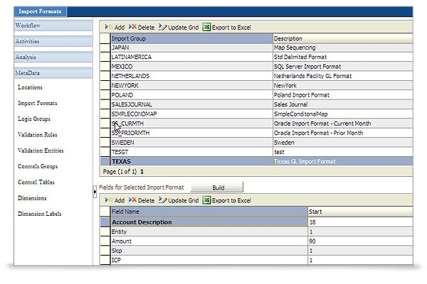 Oracle Hyperion Financial Management screen shot 2