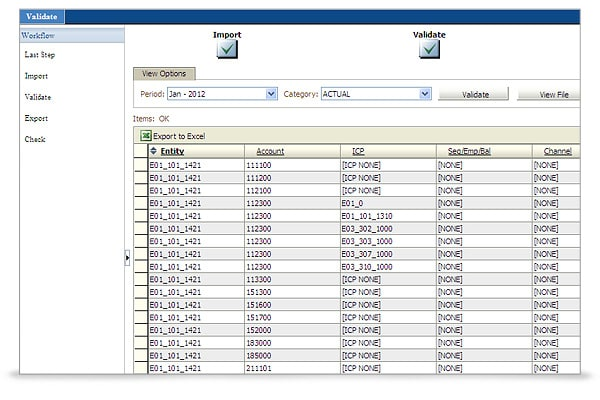 Oracle Hyperion Financial Management screen shot 5