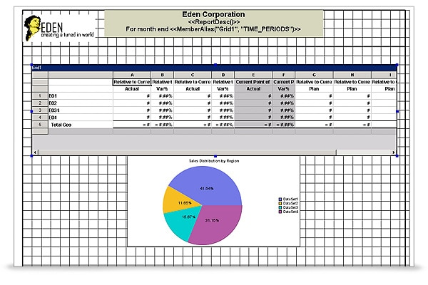 Oracle Hyperion Financial Reporting screen shot 1