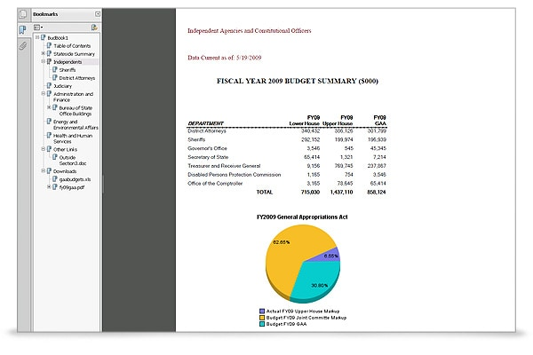 Oracle Hyperion Financial Reporting screen shot 4