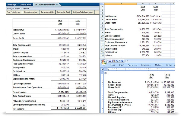 Oracle Hyperion Financial Reporting screen shot 5
