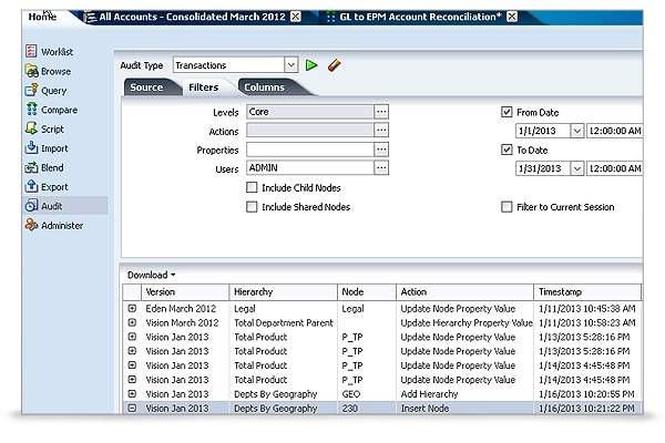 Data Relationship Management screen shot 3