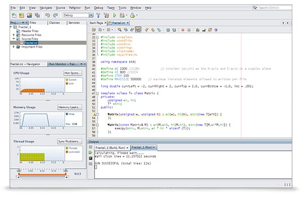 Oracle Solaris Studio screenshot