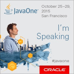 Speaking at JavaONE 2015
