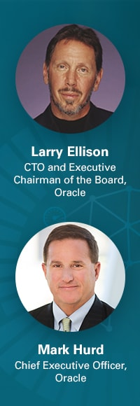 Larry Ellison and Mark Hurd