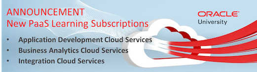 New PaaS Learning Subscriptions