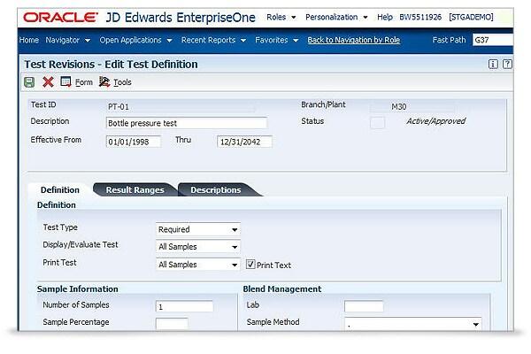 JD Edwards EnterpriseOne Quality Management 2