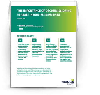 The Importance of Decommissioning in Asset Intensive Industries