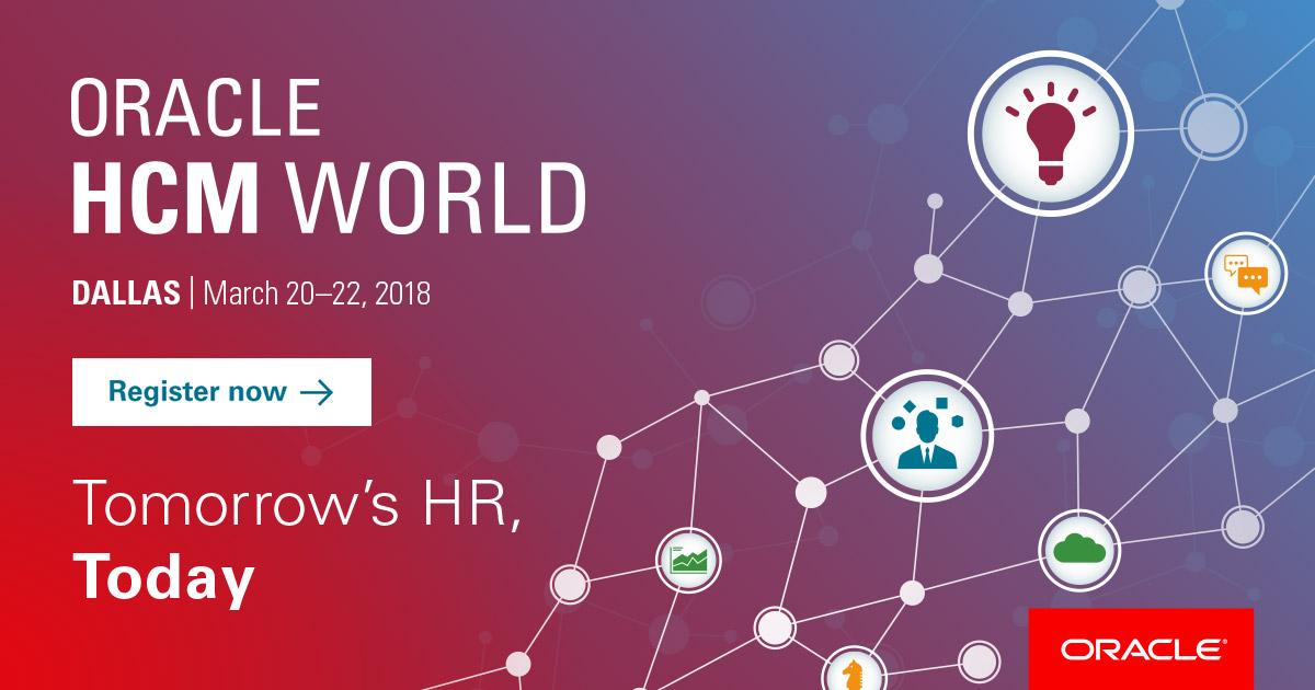Oracle HCM World 2018