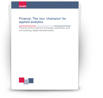 Finance: The new 'champion' for applied analytics