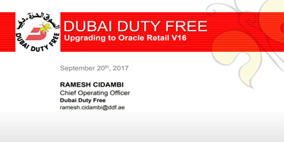 Dubai Duty Free: Upgrading to Release 16