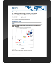 IDC MarketScape: Worldwide SaaS and Cloud-Enabled Procurement Applications 2018 Vendor Assessment