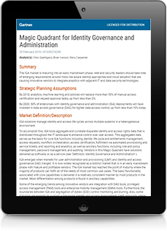 Gartner Magic Quadrant Report