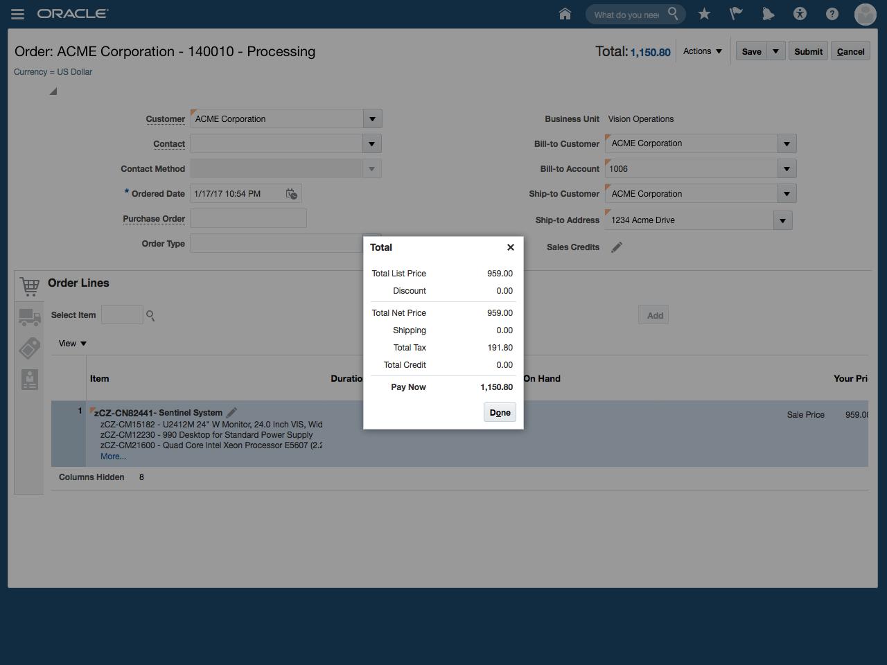 Oracle Configurator Cloud - CPQ Cloud Mashup