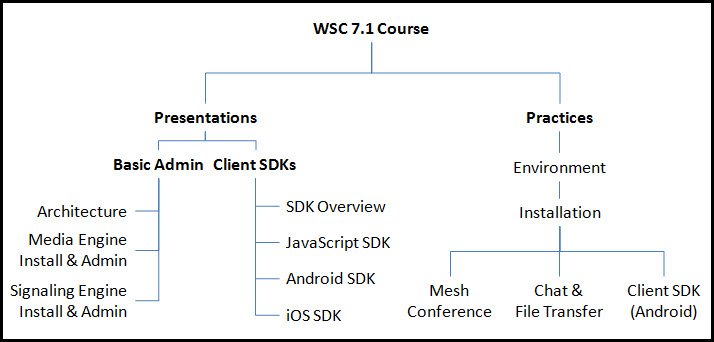 WebRTC Session Controller self paced course structure