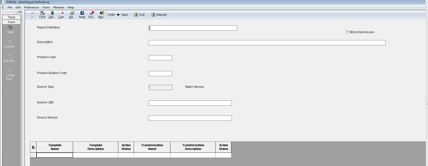 Creating report definitions bi publisher repository form add button baditri Images