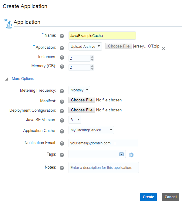 Creating a Java Application Using the Caching REST API in