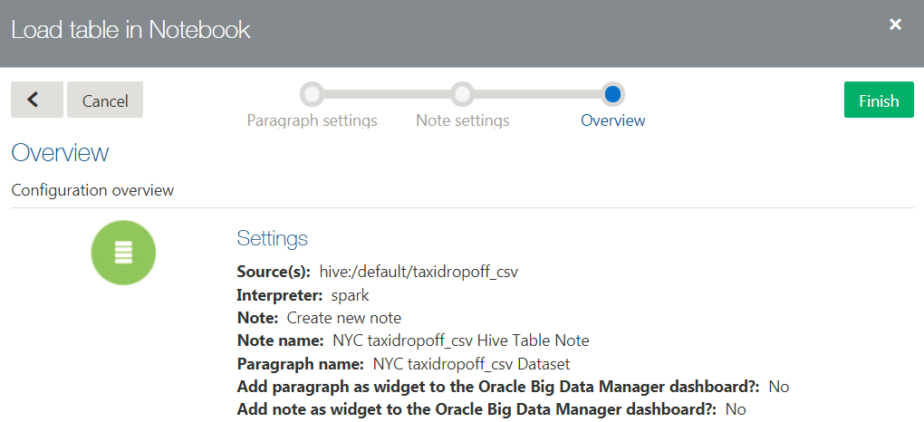 Uploading and Analyzing Data with Oracle Big Data Manager