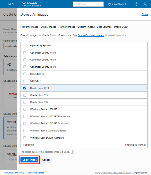 Creating a Custom Linux Image for PeopleSoft Cloud Manager