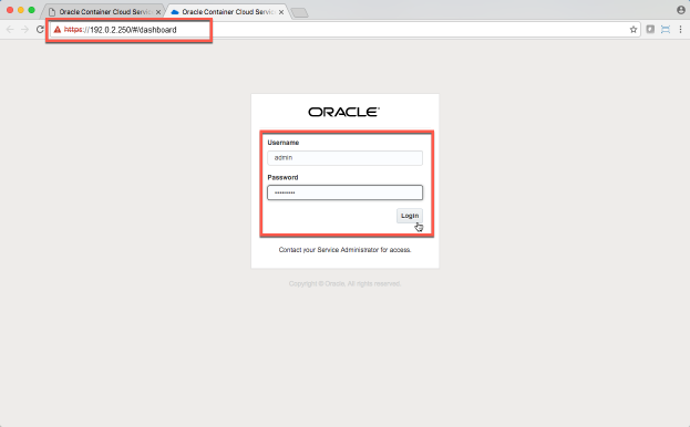 Running a Docker Container with Oracle Container Cloud
