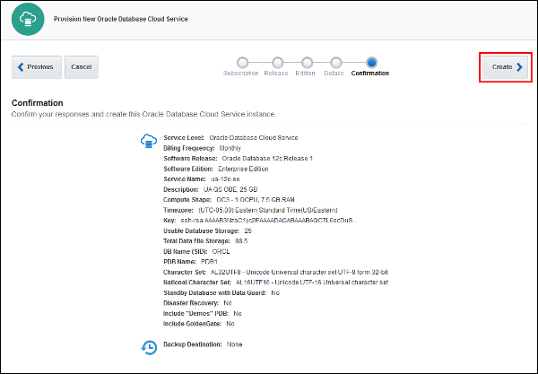 Oracle Database Cloud Service Quick Start