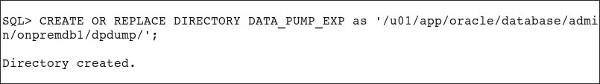 create directory data_pump_exp
