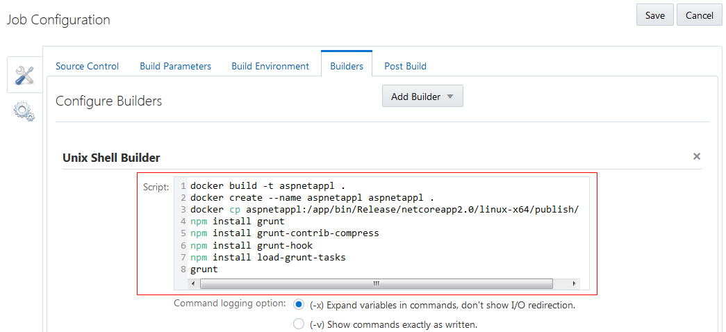 Building ASP  Net Application using Docker in Oracle