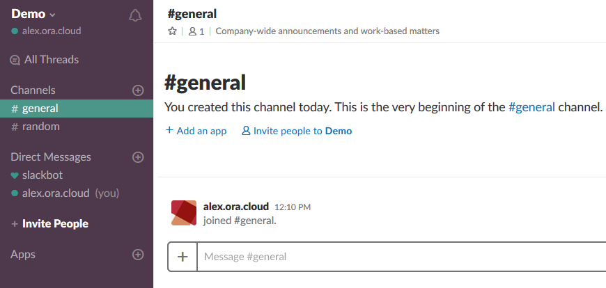 Integrating Slack with Oracle Developer Cloud Service