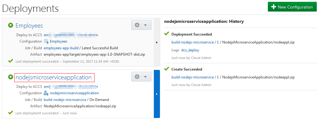 Deploying a Node js Microservice Application in Oracle