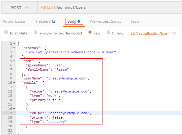 Using the Oracle Identity Cloud Service REST APIs with Postman