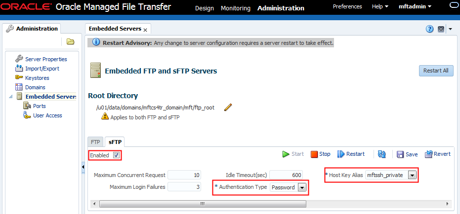 Oracle MFT Cloud Service Post-Provisioning Task - Setting up the MFT
